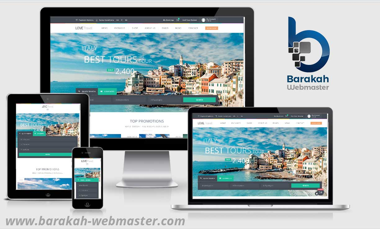Example Travel agency website design